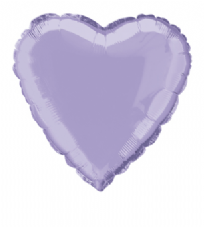 Heart Shaped Lavender Foil Helium Balloon